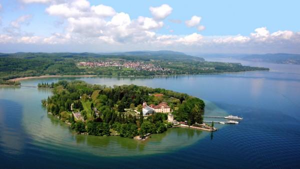 Insel Mainau am Bodensee Luftbild